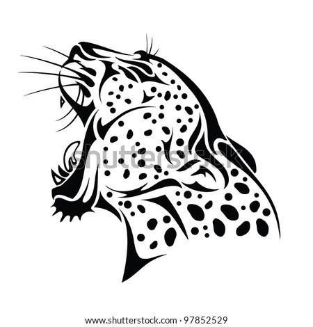 Isolated Jaguar Headvector