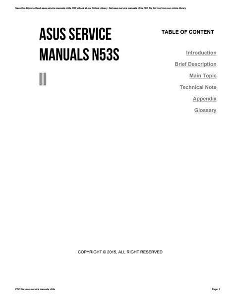 Download AudioBook asus service manuals n53s How to