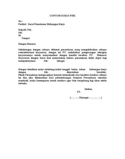 Contoh Surat Pemutusan Jasa Internet