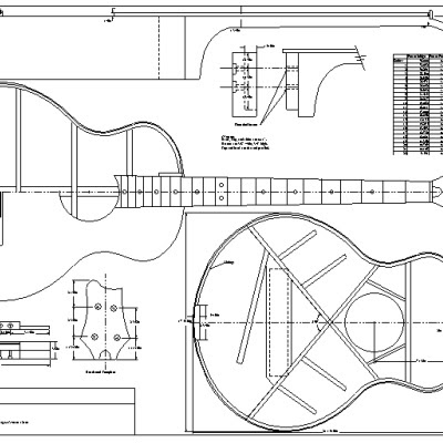 Lote Wood: Acoustic bass guitar plans pdf Guide