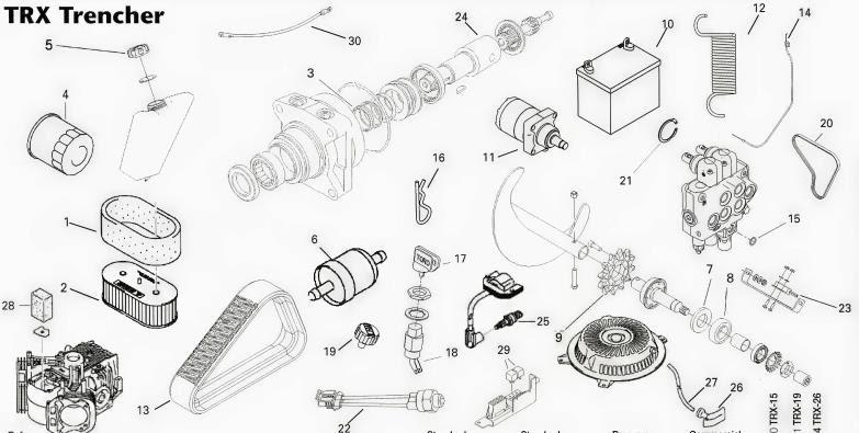 Wiring Diagram: 34 Vermeer Trencher Parts Diagram