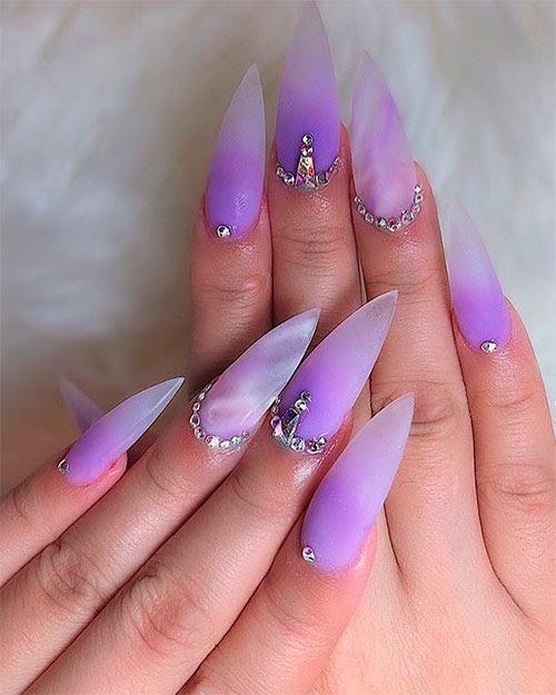 Purple Ombre Nails : purple, ombre, nails, Light, Purple, Ombre, Nails, NailsTip