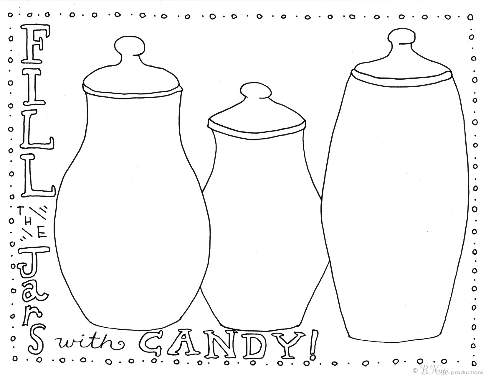 bnute productions: Free Printable Candy Jar Coloring Page