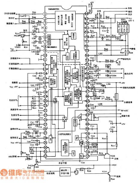 circuit board labeled diagram of a toshiba tv