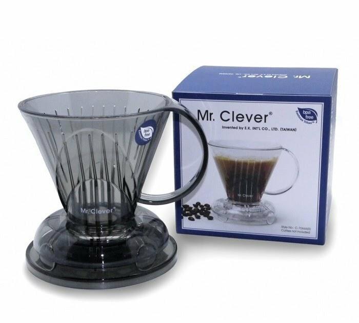 【時尚商品介紹】【沐湛咖啡】Mr. Clever 聰明濾杯/手沖咖啡 (L)大容量4~7杯份+專用濾紙(L)100入 Clever Coffee Dripper