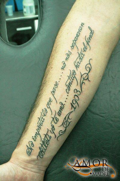 Frasesamor Tatuajes Frases De Amor De Madre