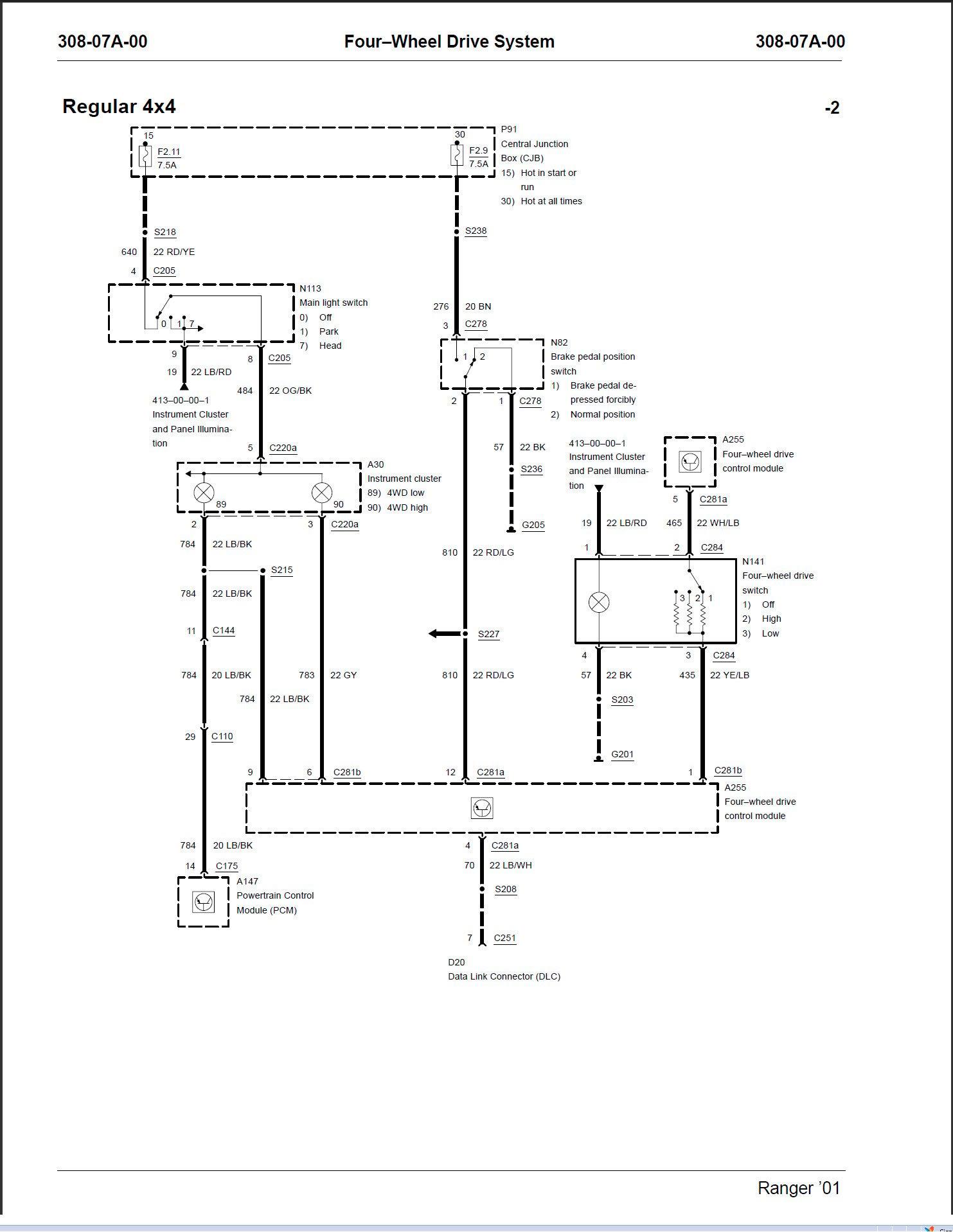 1998 Ford Ranger Wiring Diagram