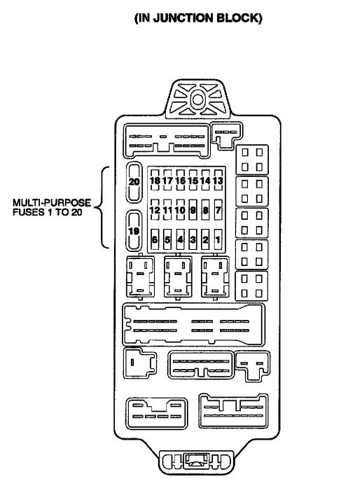 2001 Mitsubishi Diamante Fuse Box Diagram