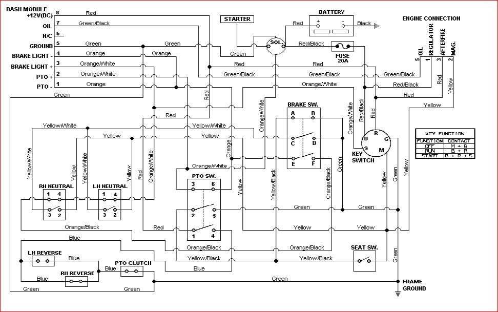 Wiring Diagram Source: Cub Cadet Lt1045 Mower Deck Diagram