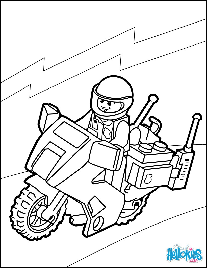 Playmobil Ausmalbilder Polizei - Malvorlagen
