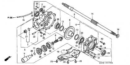 Wiring Diagram: 27 Honda Recon Rear Axle Diagram