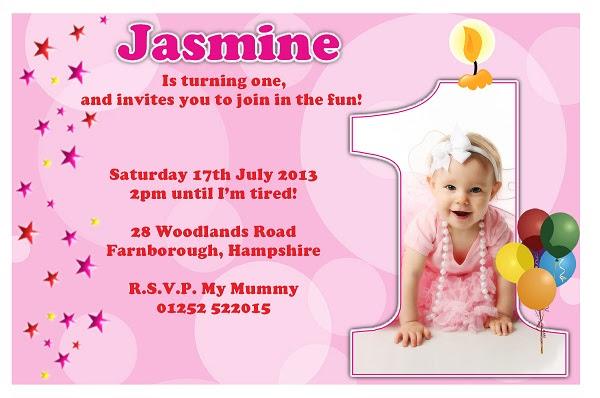 1st birthday message invitation 1st