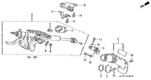 Acura Online Store2000 Integra Steering Column Parts:Acura