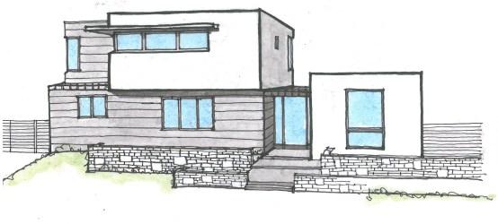 Minimalist House Design: Modern House Architecture Design Drawing