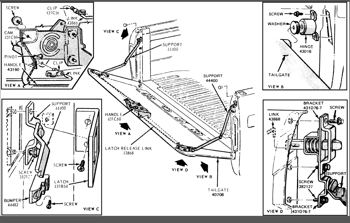 taxifarereview2009: Ford F 150 Tailgate Parts Diagram