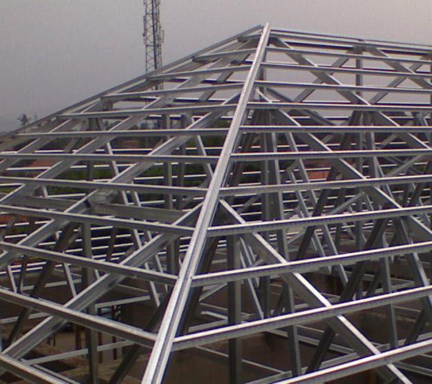gambar rangka atap baja ringan limasan kitchen ideas