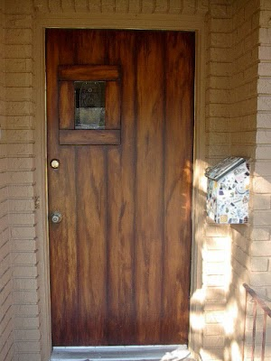 Front Door Painted Like Wood Planks  Everything I Create  Paint Garage Doors To Look Like Wood
