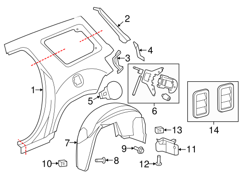 2008 Gmc Acadia Parts Diagram