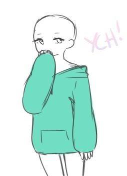 Hoodie Anime Base : hoodie, anime, Hoodie, Anime, Sketch, Wallpaper