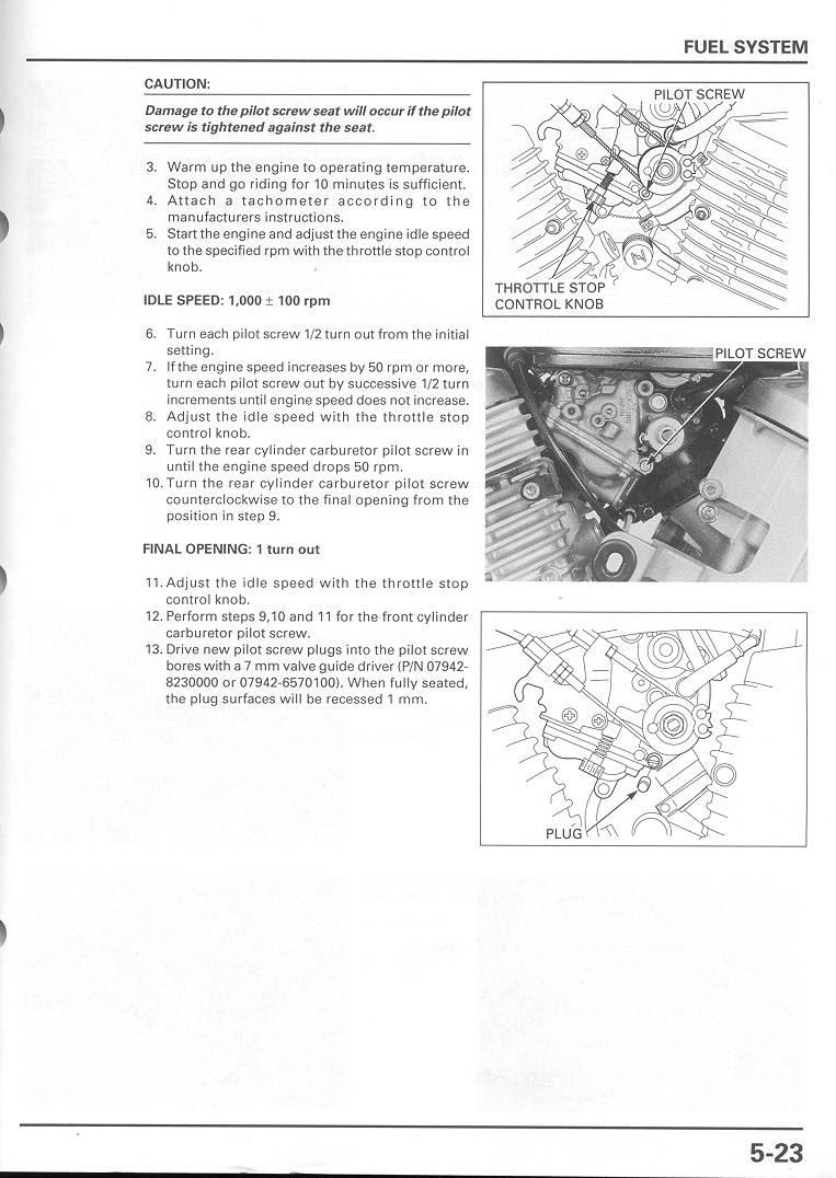 1983 Honda Shadow 750 Valve Adjustment Solution
