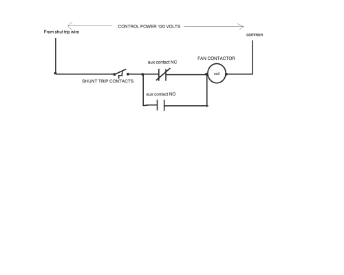 small resolution of am told that the shunt trip circuit breaker wired to the nc contacts wiring diagram for you