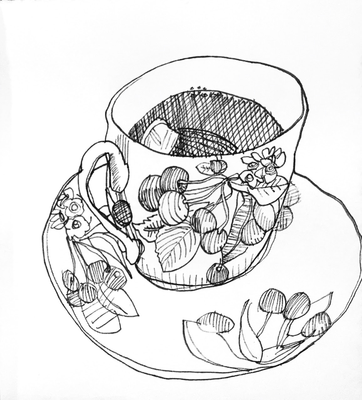 An Artist Labyrinth: Ginny Stiles CZT: Line Drawings in Ink