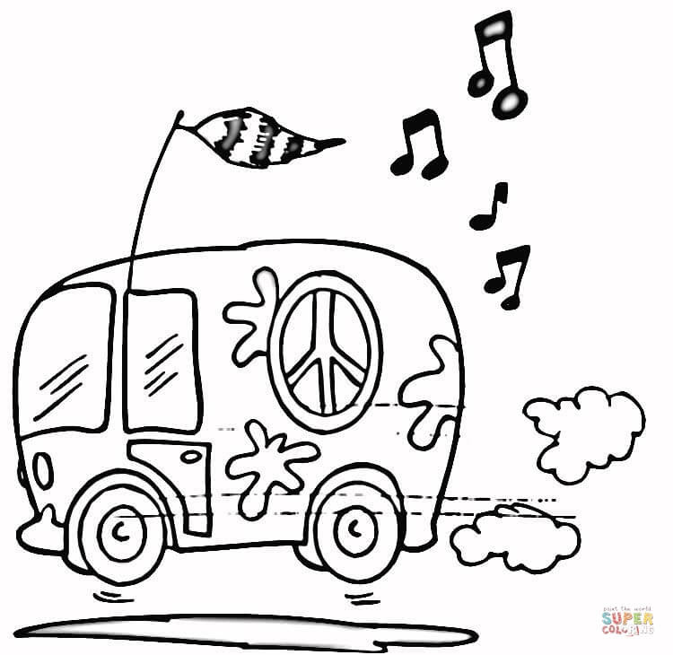 Vw Bus Ausmalbild - Malvorlagen Gratis