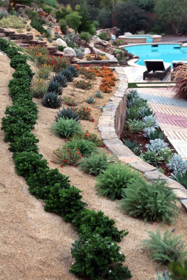 modern hillside landscaping