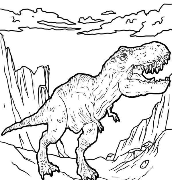 Malvorlage Dinosaurier T Rex
