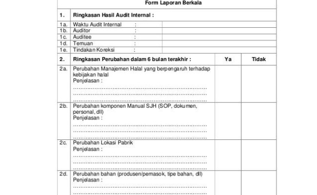 Contoh Berita Acara Audit Internal Contoh Kumpulan