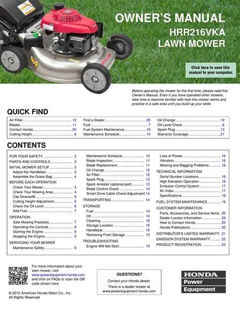 Download honda lawn mower manuals Internet Archive PDF