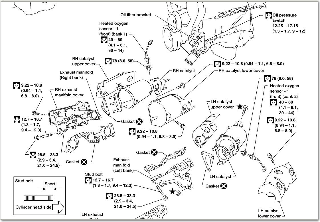 hight resolution of 2003 nissan xterra manifold diagram
