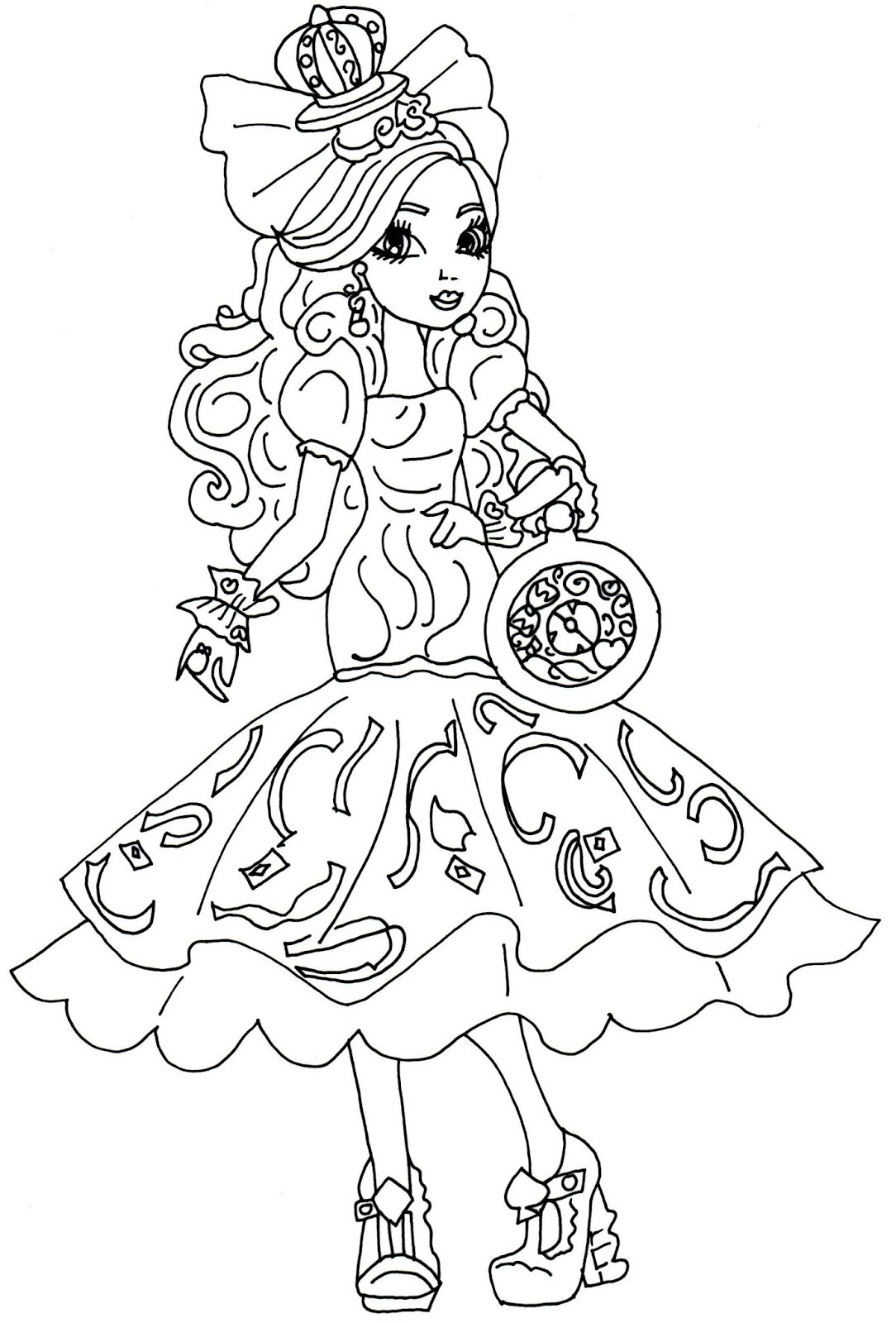 Desenhos Da Ever after High Para Imprimir E Colorir