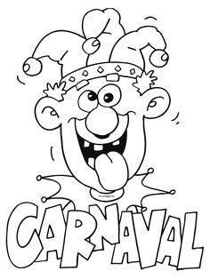 Bastelvorlagen Karneval Kostenlos : Ausmalbild Karneval