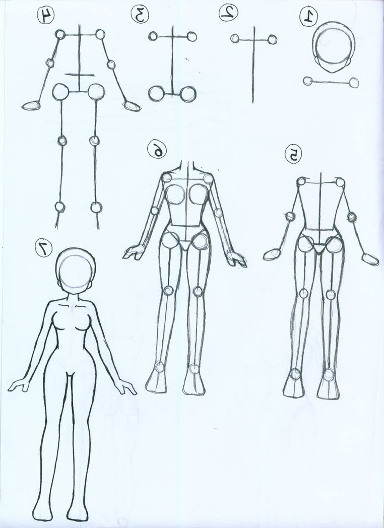 Anime Body Drawing : anime, drawing, Anime, Clothes, Howto, Techno