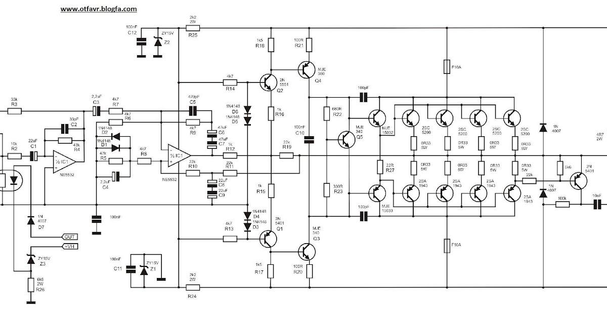 Yiroshi Power Amplifier Circuit Diagram / skema power