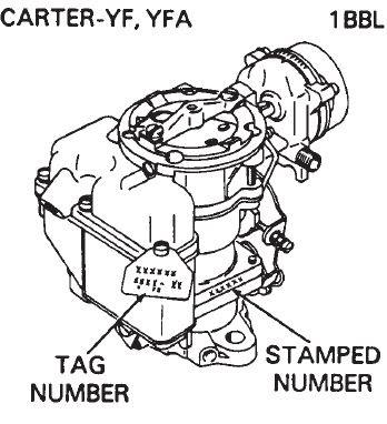 Carter 1 Barrel Carburetor Diagram