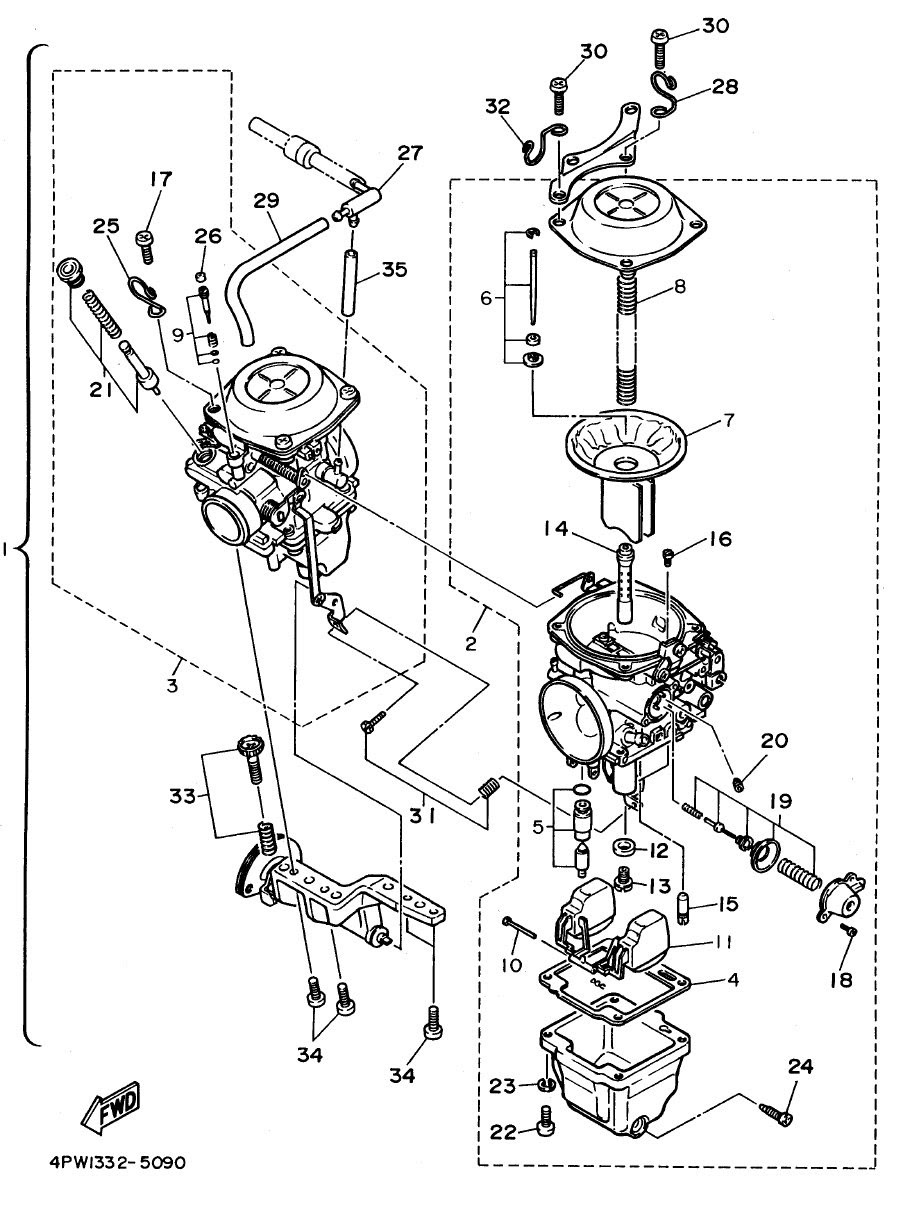 Wiring Diagram: 30 Yamaha Wolverine 350 Carburetor Diagram