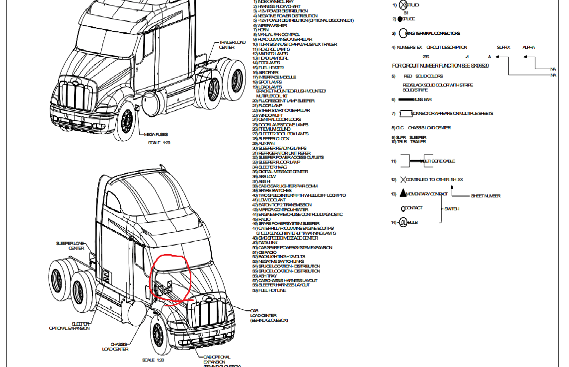 Wiring Diagram Source: 2014 Freightliner Cascadia Fuse Box