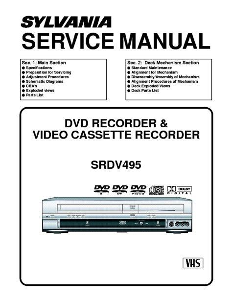 Free Read sylvania srdv495 service manual PDF Free