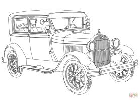 Ausmalbilder Auto Ford Mustang