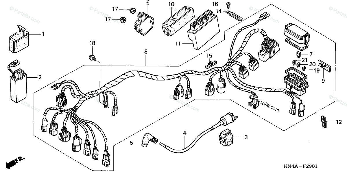 1998 Honda Rancher Wiring Diagram
