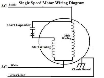 Wiring Diagram Database: 220v Single Phase Motor Wiring