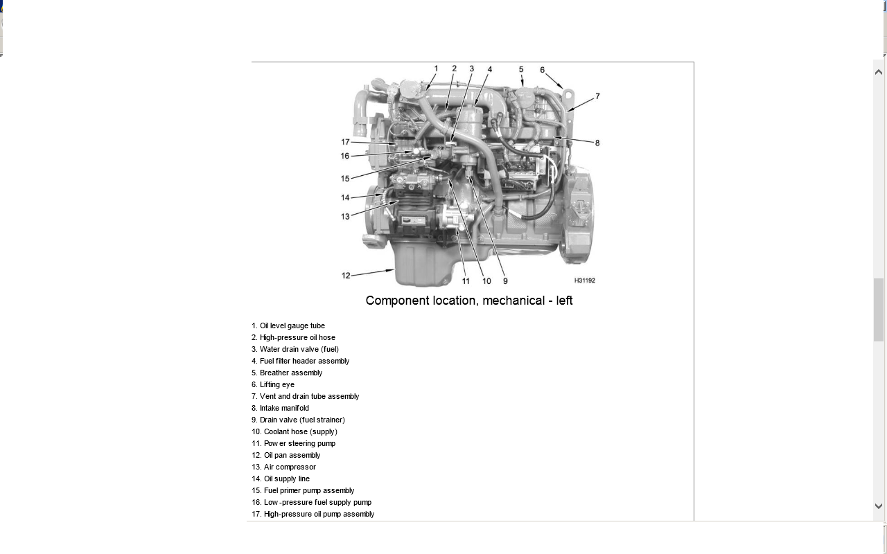 Wiring Diagram: 28 Dt466 Engine Diagram