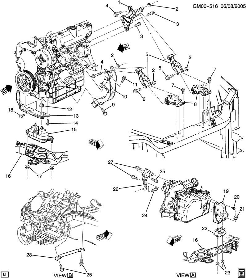 Wiring Diagram PDF: 2002 Pontiac Aztek Engine Diagram