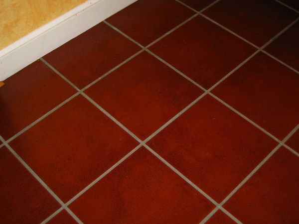 Red Ceramic Tile Kitchen Floors