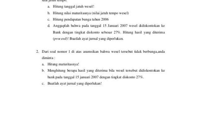 Contoh Soal Piutang Dagang Cute766