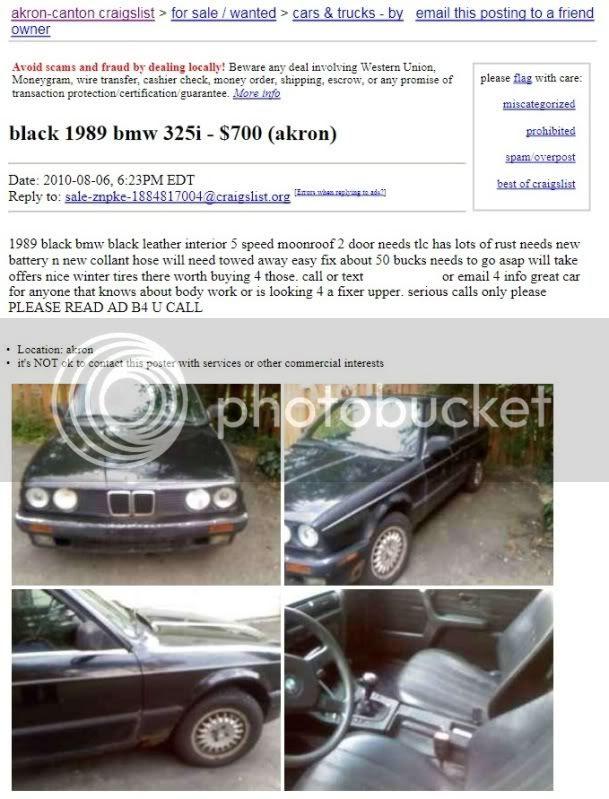 Bmw 325i For Sale Craigslist : craigslist, Craigslist, Thxsiempre