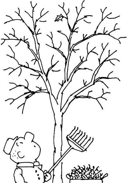 Jahreszeiten Baum Ausmalen - Blume Malen