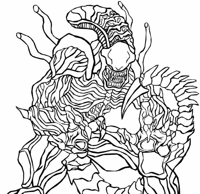 predator: Alien Vs Predator Colouring Pictures